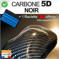 film vinyle adhésif carbone 5D noir 152cm x 30cm ultra réaliste +raclette 3M pro