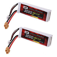 2X 11.1V 3000mAh LiPo Battery (XT-60) Plug for DJI Phantom FC40 F450 F550