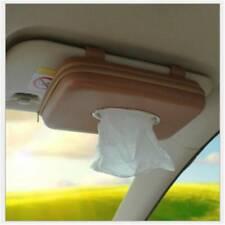 Car Tissue Holder Leather Box Sun Visor Hanging Clips Auto Accessories LP
