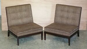 PAIR OF RRP £7,660 GEORGE SMITH NORRIS ARMCHAIRS UPHOLSTERY PROJECT RESTORATION