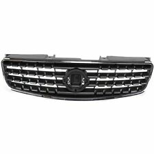 Grille For 2005-2006 Nissan Altima Chrome Shell w/ Gray Insert Plastic