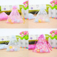 50PCs Organza Gift Bags Jewelry Pouches Wedding Party Favor