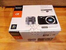 Sony Alpha NEX-F3K 16.1MP Digitalkamera - Silber (Kit mit 18-55mm Objektiv) OVP
