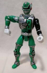 "POWER RANGERS - Bandai SPD Sound Patrol Green Ranger 5.5"" Action Figure 2005"