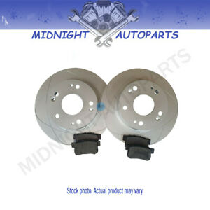 2 Front Disc Brake Rotors & Ceramic Pads for Audi A4, A6, Volkswagen Passat