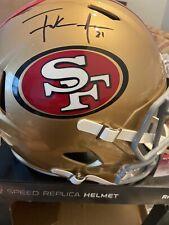 Frank Gore Auto/Signed 49ers Full Size Speed Replica NFL FOOTBALL Helmet JSA COA