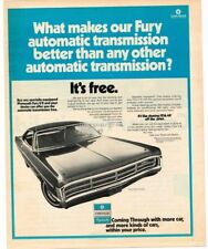 1971 Plymouth FURY GRAN COUPE Free Automatic Transmission VTG PRINT AD