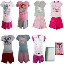 Vêtements ensemble pyjama Hello Kitty à longueur de manches manches longues pour fille de 2 à 16 ans