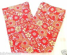 SO Stretch New Women's Floral Print Pockets Multi-Color Cropped Pants 3 XS S