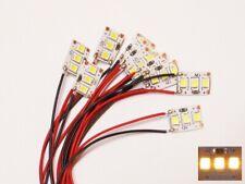 S004 - 10 Stück Mini LED Hausbeleuchtung mit Kabel warmweiß 8-16V Häuser Gebäude