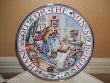 Royal Doulton Franklin Mint Rise and Shine,Teddy Teddy Bear Plate w/Certificate