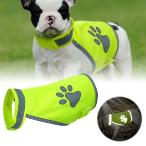 Dog Reflective Harness Vest Clothes Jacket Coat Safety Fluorescent Visibility