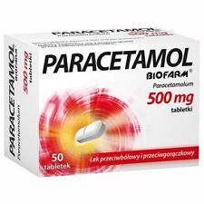 Paracetamol Biofarm 500 mg, 50 tabletsmigraines,menstrual cramps, etc.