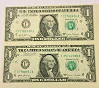 UNCUT SHEET $1 X2 Legal USA $1 DOLLAR  Real Money!  GREAT GIFT!