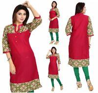 Top Printed Women Fashion Indian Short Kurti Tunic Kurta Top Shirt Dress MM114