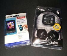 Coby 8Gb Touchscreen Video Mp3 Plus Coby Jammerz Ultra Headphones - Bundle - Nib