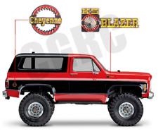 2PCS Metal 3D emblem Badge For 1/10 Rc Crawler Car Trx4 Chevrolet K5 Blazer