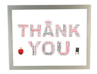 Personalised Word Art Thank You Print Teacher Gifts School Leavers End of Term