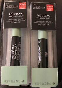 2 Revlon Photoready Color Correcting Pen For Redness #010 New Sealed