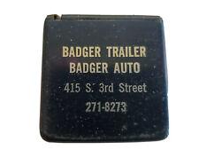 Vtg Badger Trailer Auto Milwaukee Advertising 72