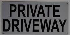 New listing Private Driveway Sign (Aluminium Reflective, White 6x12)(ref1820)