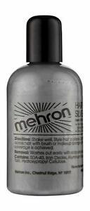 Mehron Hair White/Silver Professional Temporary Liquid Hair Color Asso Sizes