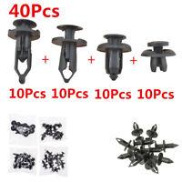 40pcs Auto Car Push Retainer Pin Rivet Trim Clip Panel Moulding Assortments Kit