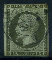 France 1860 Yv. 11 Oblitéré 60% 1 c., Napoléon III