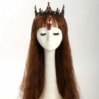 Victorian Vintage Gothic Rhinestone Crown Wedding Bridal Tiara Chain Headband