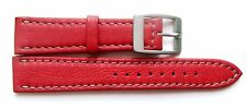 Authentic Locman 18mm RED Lorica Leather Watch Band/Strap with Buckle.  NEW