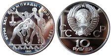 Rus-y#183 10 rublos olimpiadas Moscú anillos 1980 en pp