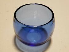 Vintage Blue Glass Rolling Tumbler