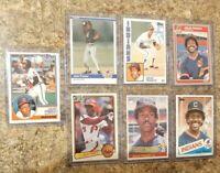 (7) Julio Franco 1983 Topps Donruss Fleer Rookie + 1984 1985 Card Lot RC Indians