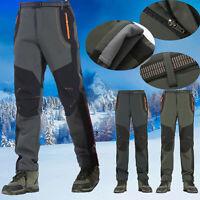Men Waterproof Hiking Pants Winter Warm Thermal Fleece Combat Windproof Trousers