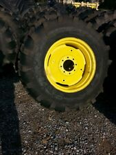 TWO New 17.5Lx24 R4 Kubota,  John Deere Farm Tractor Tires w/Wheels