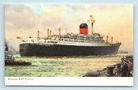 CUNARD LINE RMS IVERNIA - VINTAGE OCEAN LINER CRUISE SHIP POSTCARD