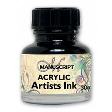 Manuscript Acrylic Artists Drawing & Calligraphy Ink 30ml - 12 Colours Available