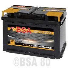 BSA Autobatterie 80Ah +30% mehr Startkraft ersetzt 72Ah 74Ah 75Ah 77Ah Batterie