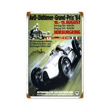 Vintage Style Retro Oldtimer Grand Prix Steel Sign 12 x18
