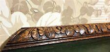 Acanthus leaf decorative carving pediment Antique french architectural salvage