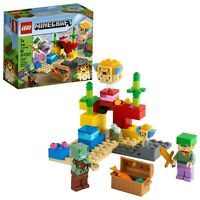 LEGO 21164 MINECRAFT THE CORAL REEF 92 Pieces Brand New