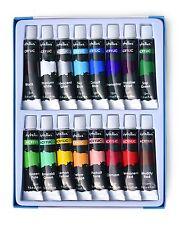 New Acrylic Paint Kit SET OF 16 COLORS Color Tube Paints Painting Artist Basics