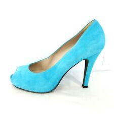 Mascaro Damen Schuhe Peeptoes Pumps Wildleder Leder Blau Größe 40 NP 199 Neu