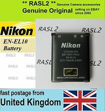 Original Genuine NIKON EN-EL10 Battery COOLPIX S500 S510 S520 S570 S600 S700