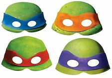 8 x TMNT TEENAGE MUTANT NINJA TURTLES MASCHERE Carta Compleanno Costume