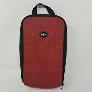 "Vintage Eagle Creek Red/Black Nylon Padded Media Travel Case  11.5"" x 6"" x 2.5"""