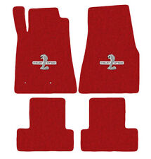 NEW! 2005-2010 Ford Mustang Red Floor mats Shelby GT500 Logo Set of 4 Carpet
