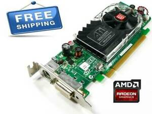 ATI Radeon HD 3450 PCIe x16 Graphics Video Card AMD B629 Dell 0Y104D SFF Tested