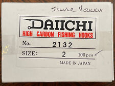 100+ Daiichi 2132  Silver High Carbon Fly Hooks, Size 2 Fly Tying