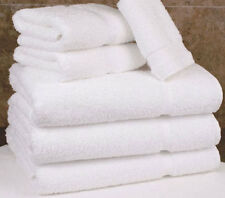 12 WHITE COTTON HOTEL BATH TOWEL LARGE 27X50 *PREMIUM* ST MORITZ 14# DOZEN